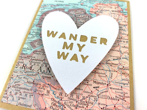 Wander My Way Card by Type Shy