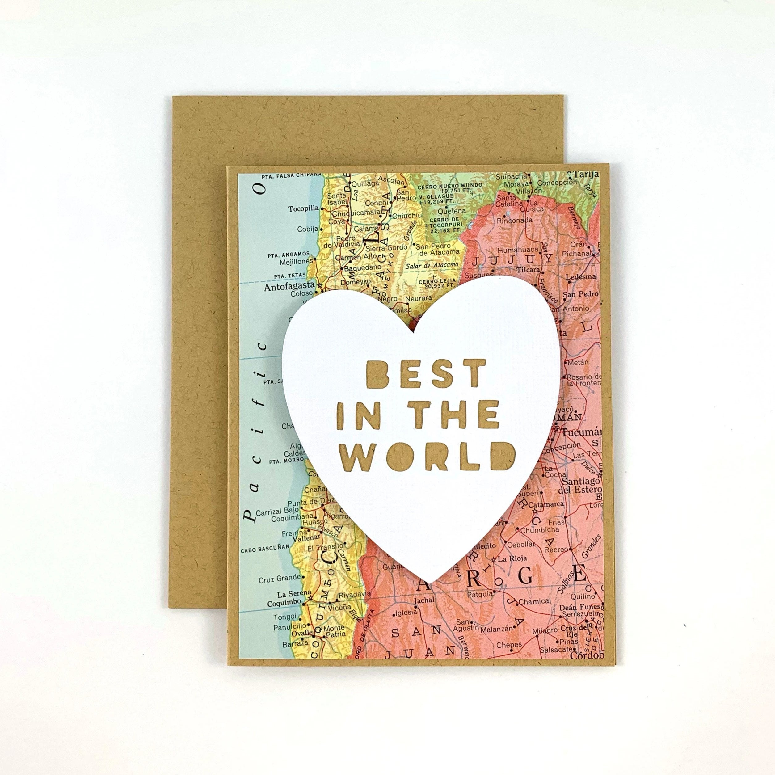Best in the World Candy Heart Valentine Card