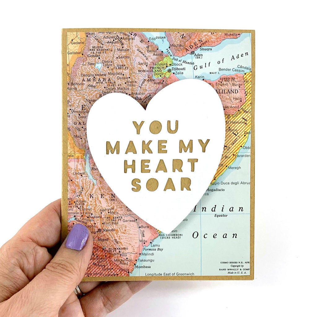 You Make My Heart Soar Candy Heart Card