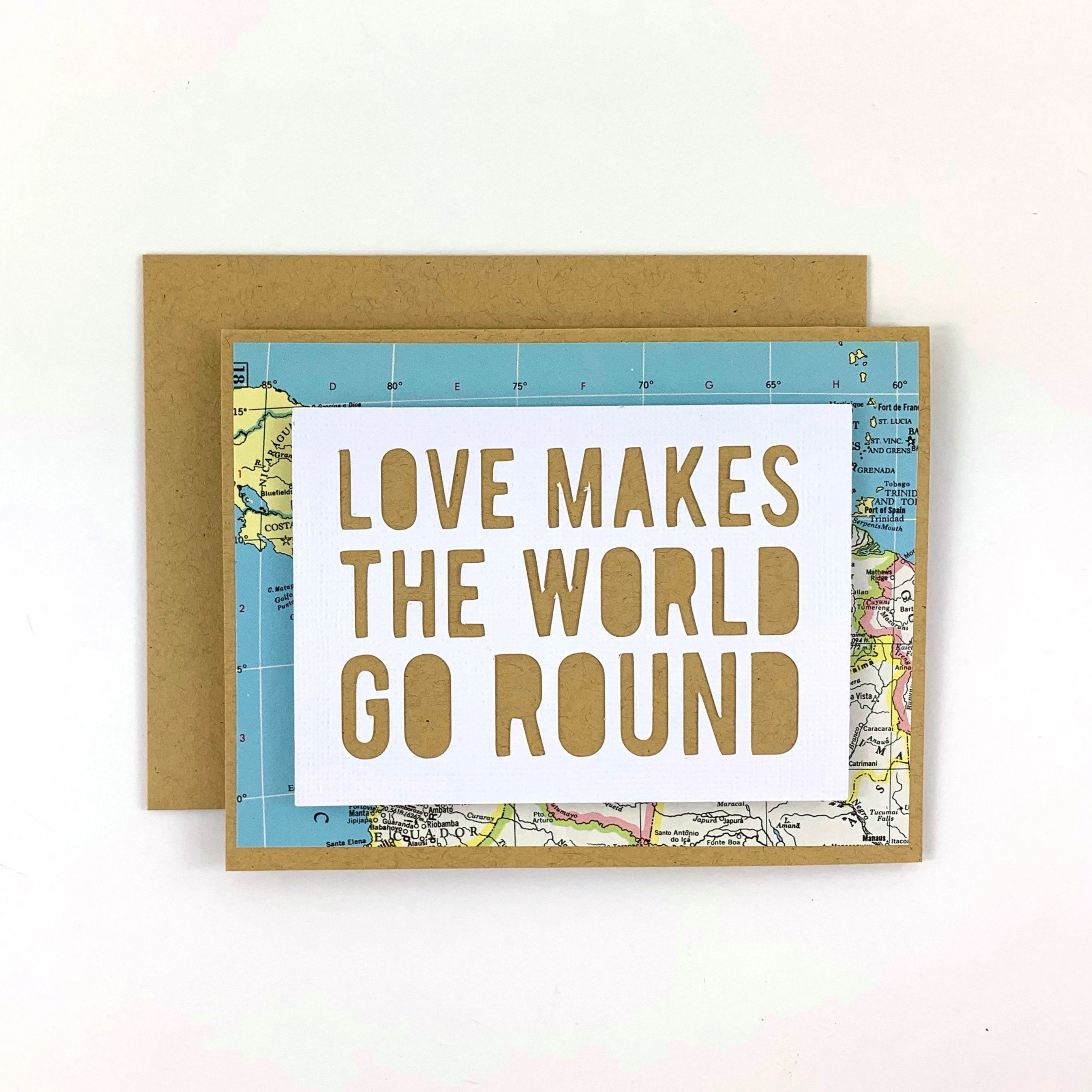 Love Makes the World Go Round Card