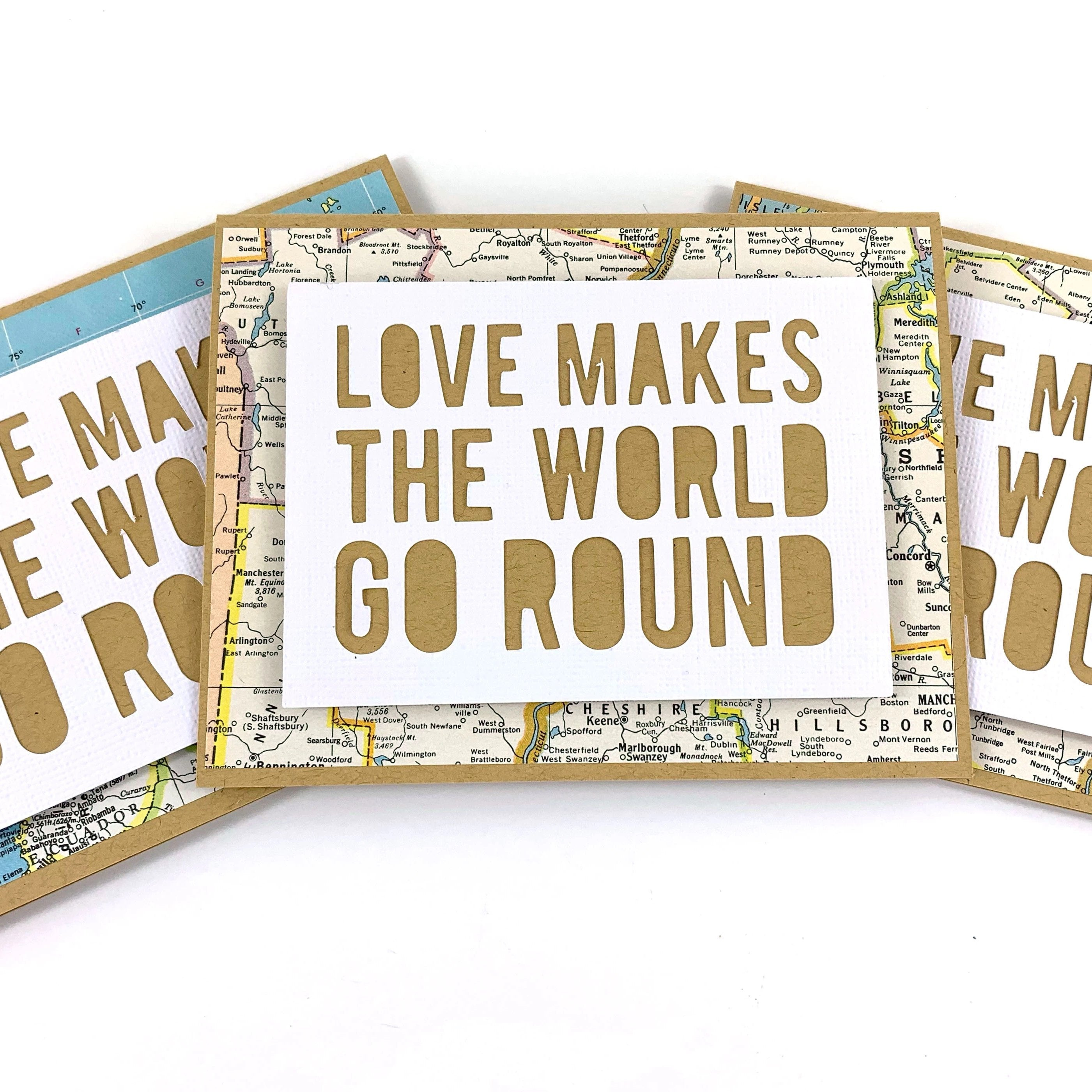You are my World card traveller love card anniversary card map love card