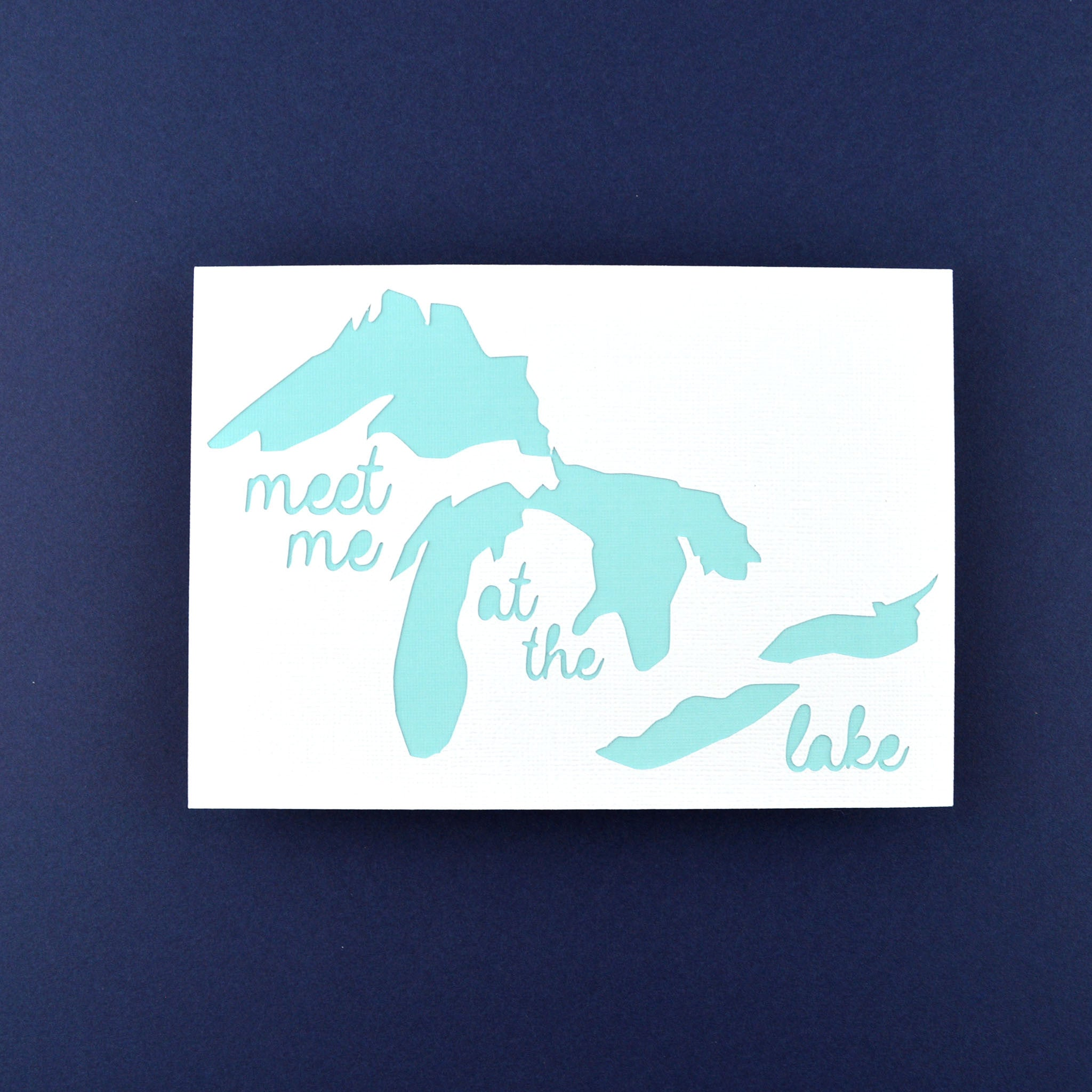 Meet Me at the Lake in Light Teal, 5x7