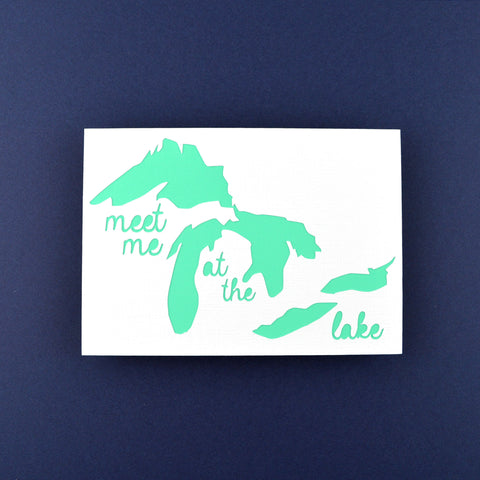 Meet Me at the Lake in Teal, 5x7