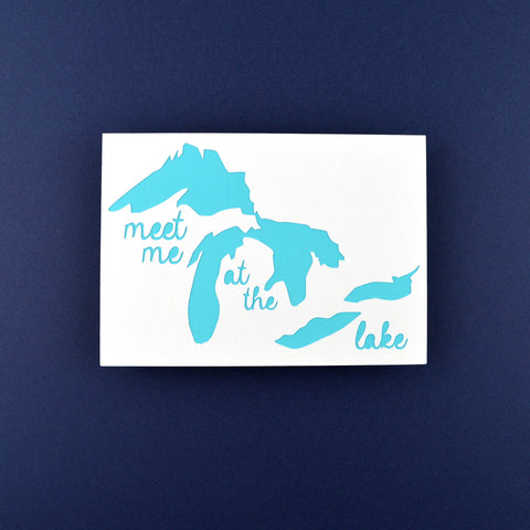 Meet Me at the Lake in Light Blue, 5x7