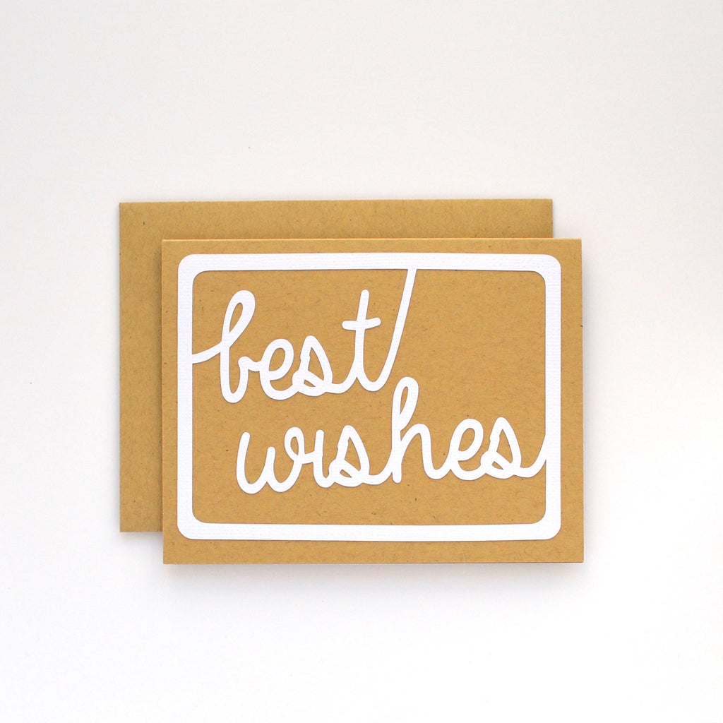 Handlettered Best Wishes Card