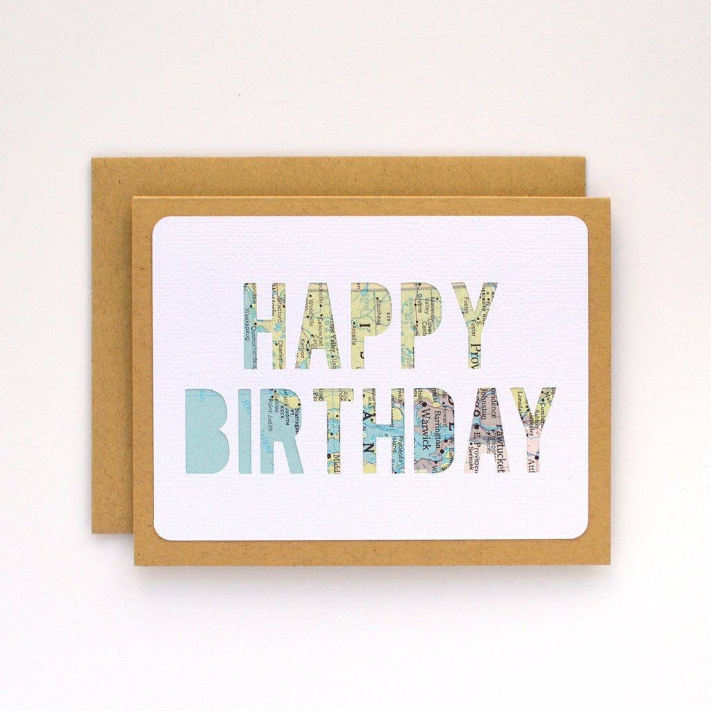 Happy Birthday Card - Block Letters