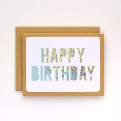 Happy Birthday Map Card