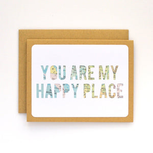 Happy Place Map Card