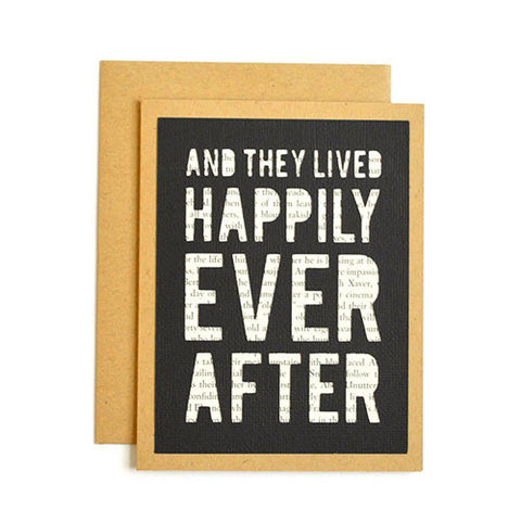 Book Happily Ever After Card