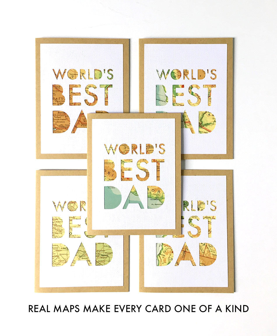 World's Best Dad Map Card