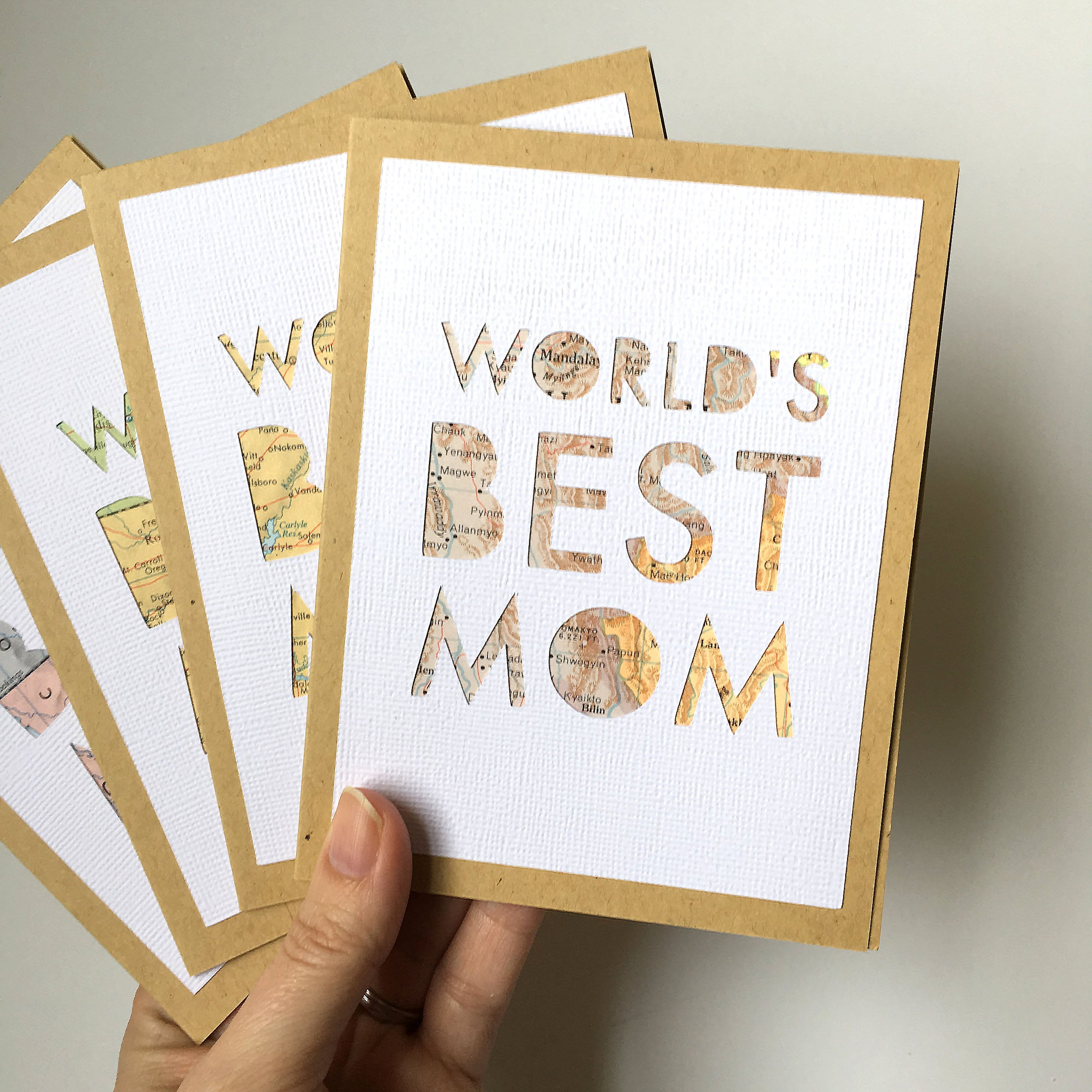 World's Best Mom Map Card