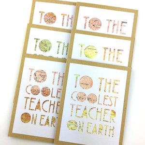 Coolest Teacher on Earth Card