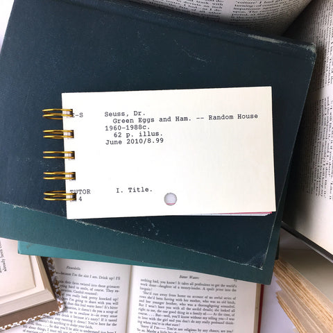 Library Catalog Card Notebooks