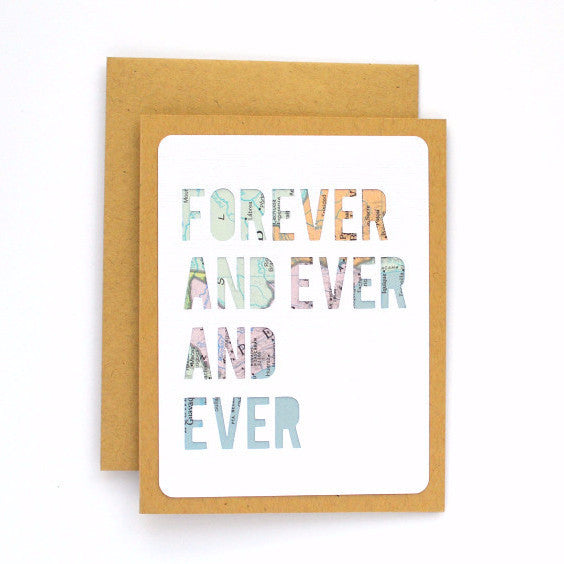 Forever and Ever Map Card