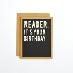 Book Reader, It's Your Birthday Card