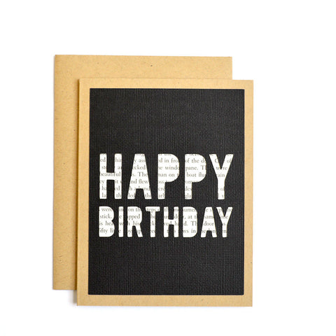 Happy Birthday Book Card