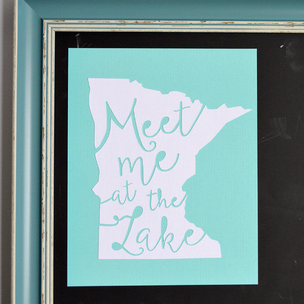 Minnesota Meet Me at the Lake Art