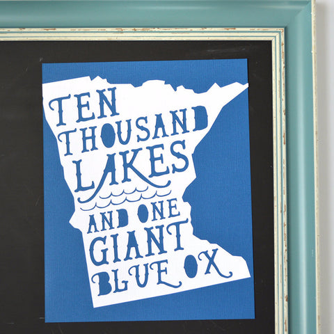 Minnesota Giant Blue Ox Art