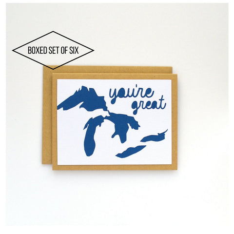 Great Lakes You're Great Boxed Card