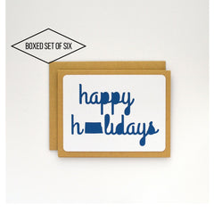 State Cards: North Dakota Happy Holidays Boxed Cards