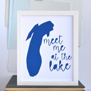 Great Lakes Meet Me At Lake Michigan Art