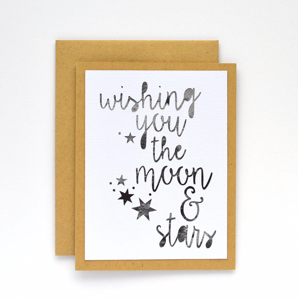 Wishing You the Moon and Stars Card