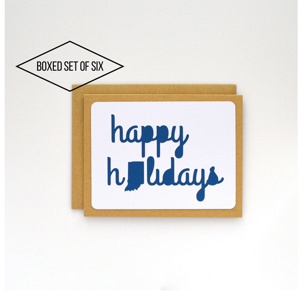 State Cards: Indiana Happy Holidays Boxed Cards