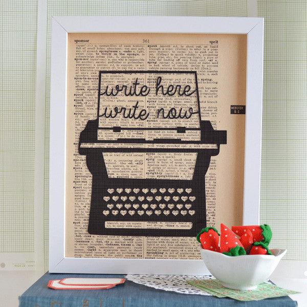 Write Here, Write Now Typewriter Art