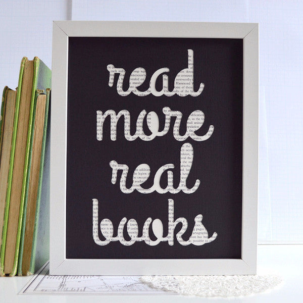 Read More Real Books Art, 8x10