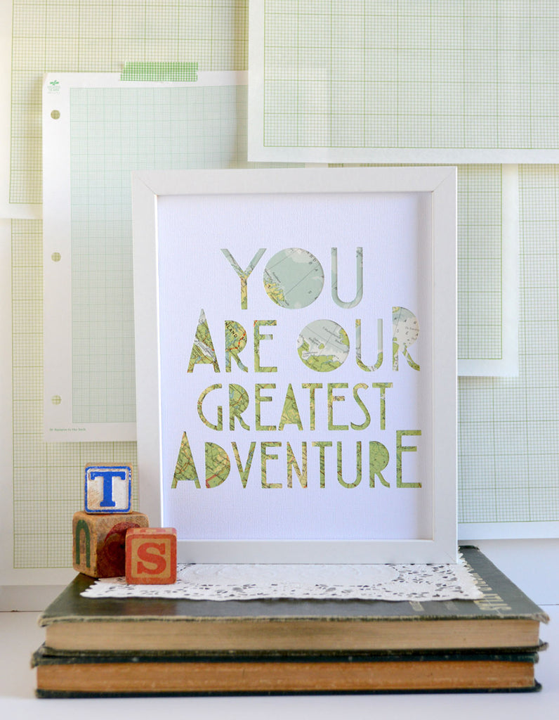 You Are Our Greatest Adventure in White