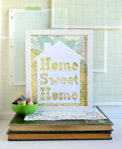 Home Sweet Home Map Art