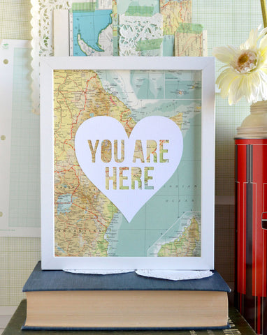 You Are Here Map Art