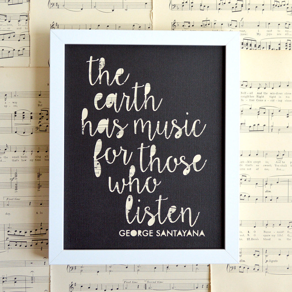 The Earth Has Music For Those Who Listen Art in Black