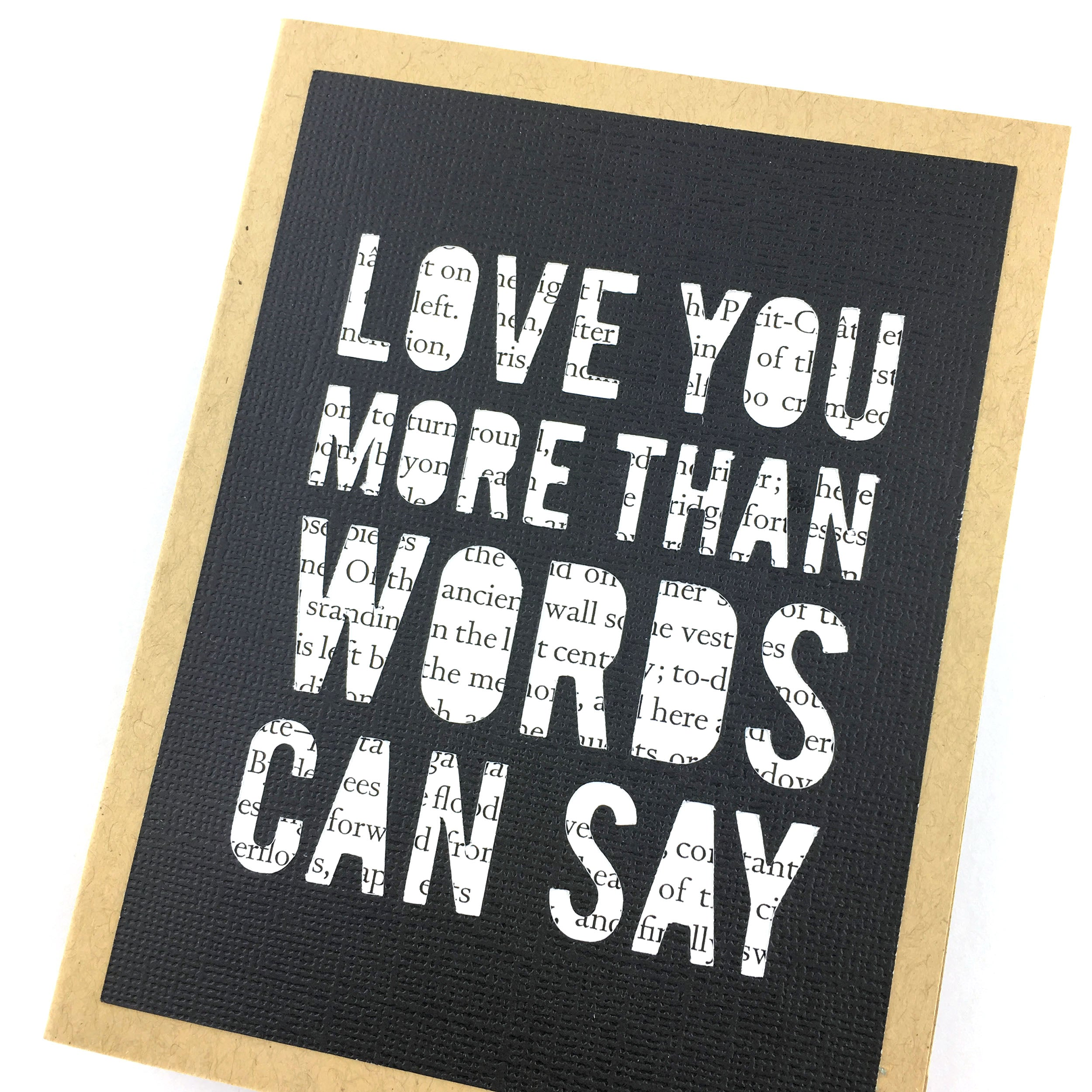 Love You More Than Words Can Say Card