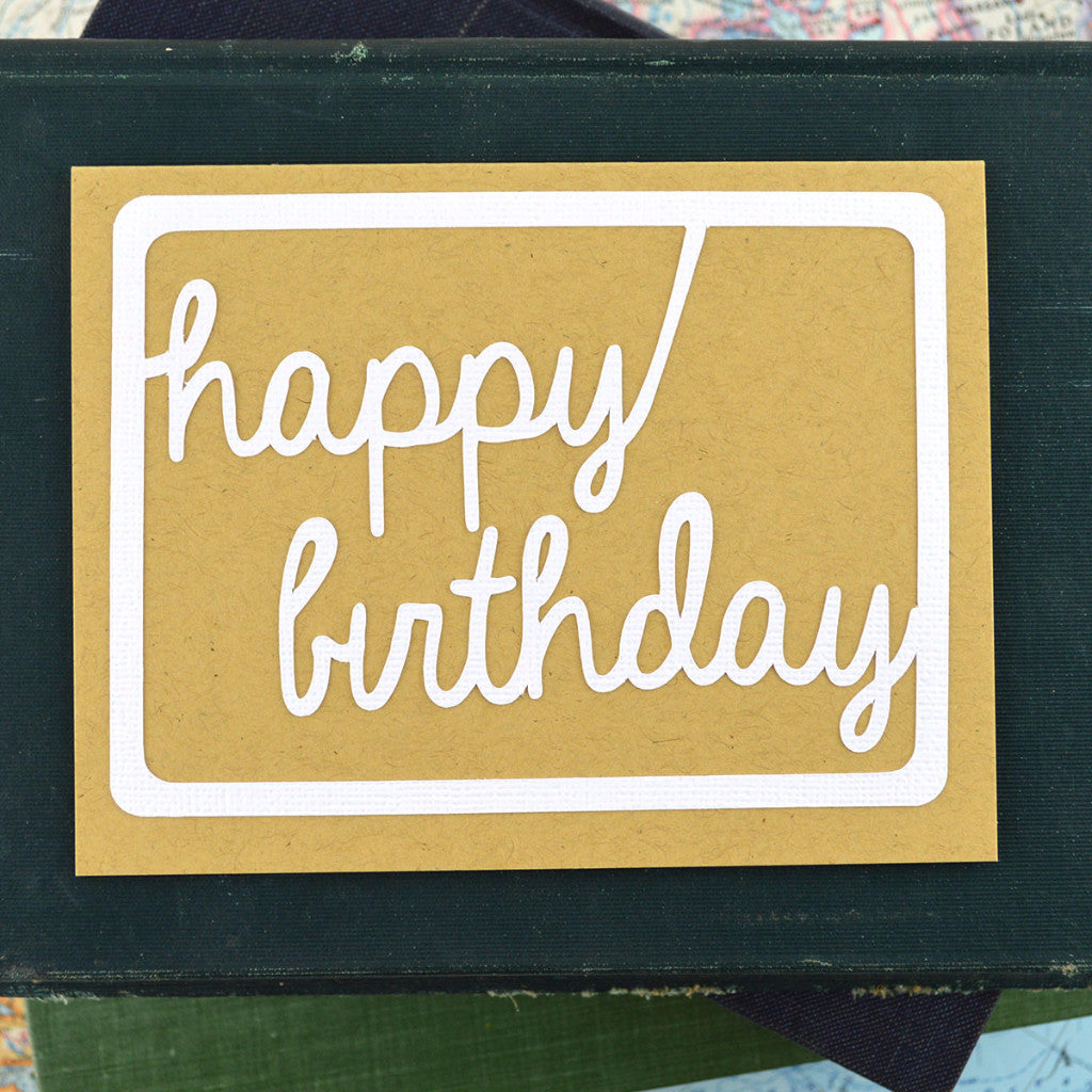 Handlettered Happy Birthday Card