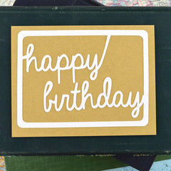 Script Happy Birthday Card