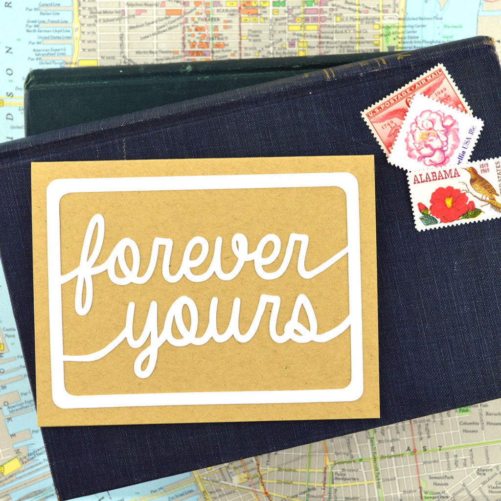 Handlettered Forever Yours Card