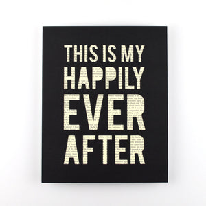 Happily Every After Book Art, 8x10