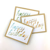 Hand-lettered Happy Birthday Card
