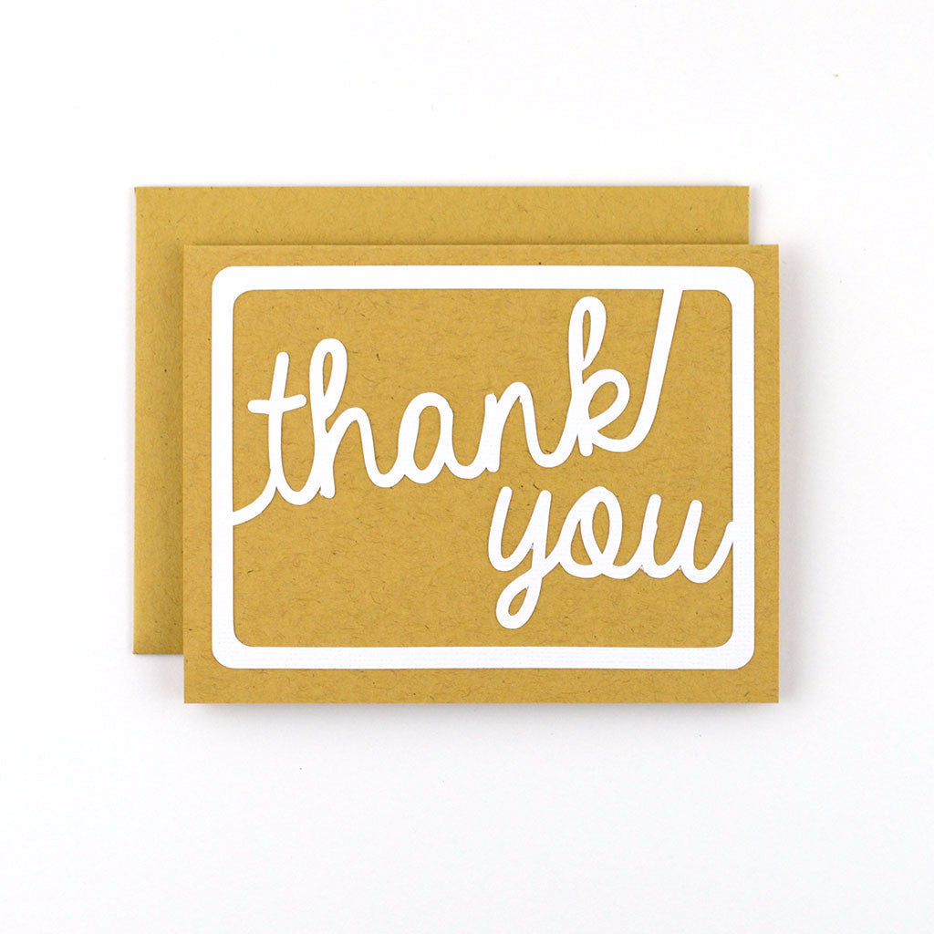 Handlettered Thank You Card