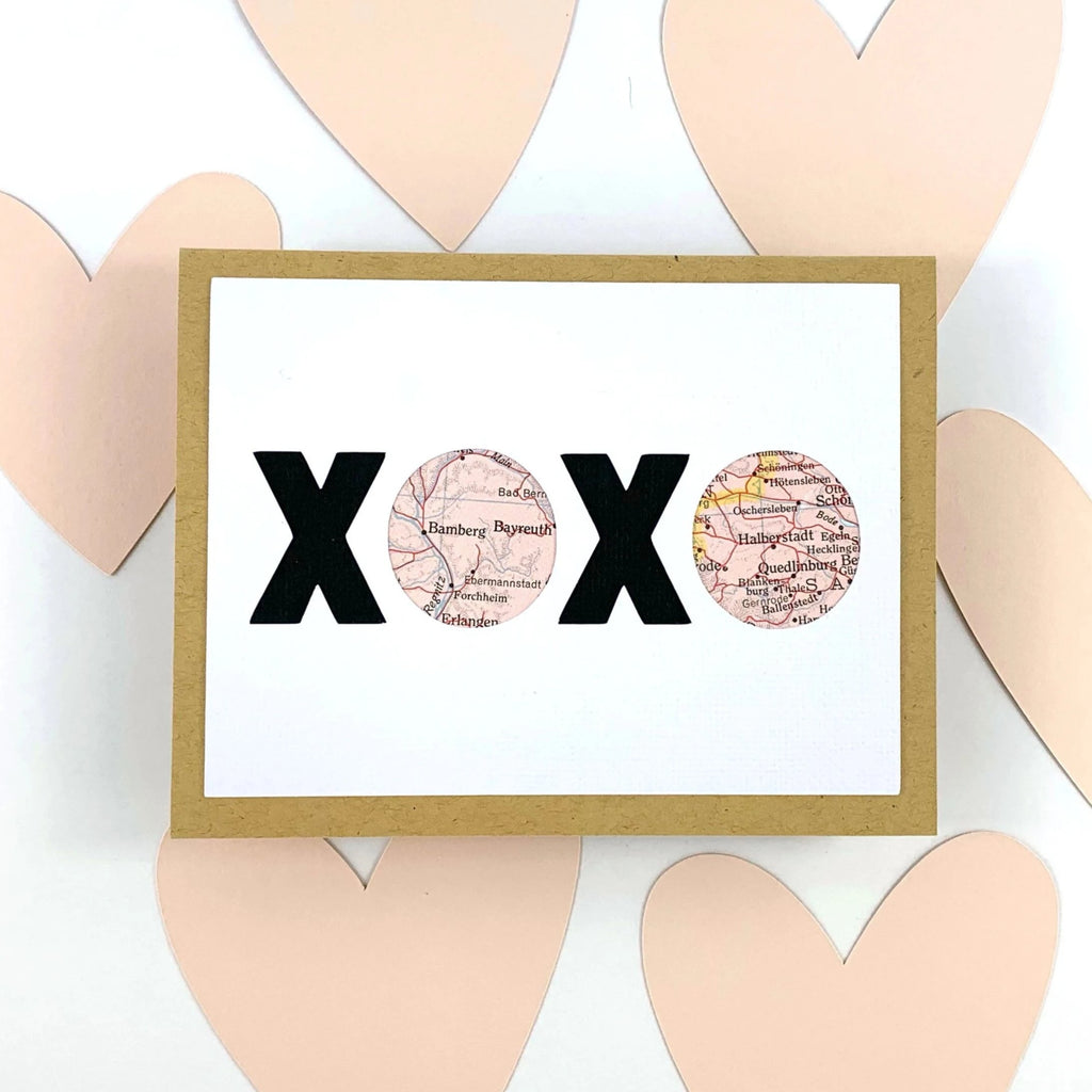 XOXO personalized Valentine Card from Type Shy
