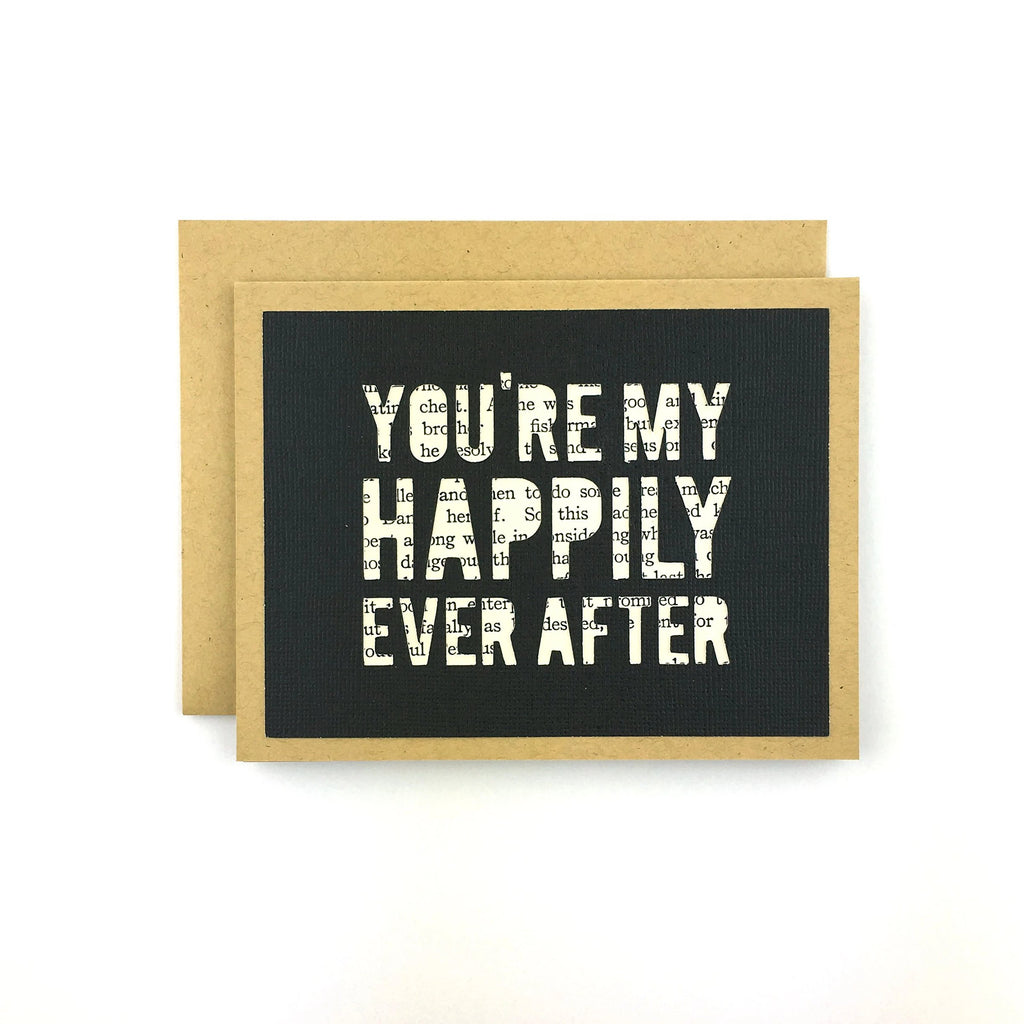You're My Happily Ever After Book Card