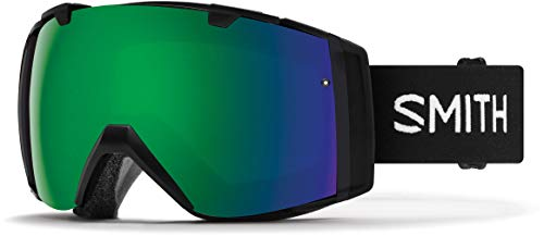 Smith Optics I/O - Asian Fit Adult Snow Goggles - Black/Chromapop Sun Green Mirror