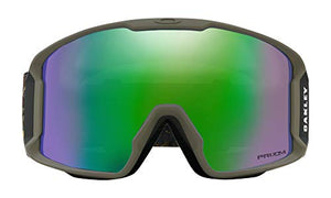 Oakley Line Miner Snow Goggles Camo Vine Jungle with Prizm Jade Iridium Lens