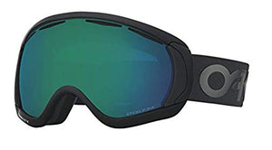 Oakley Canopy Snow Goggles Factory Pilot Blackout/Prizm Jade &Carekit Bundle