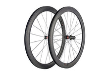 Load image into Gallery viewer, SunRise Bike 700c Carbon Road Bicycle Wheelset 50mm Clincher Tubeless Rim with 25mm Width