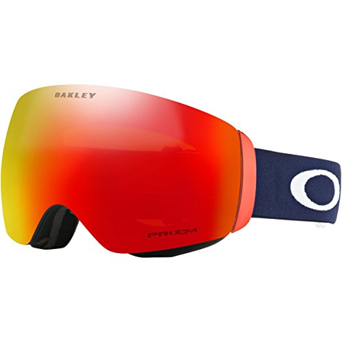 Oakley Flight Deck XM Snow Goggles, USOC Blazing Eagle Frame, Prizm Torch Iridium Lens, Medium