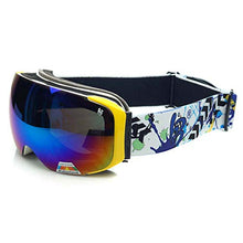 Load image into Gallery viewer, Ping Bu Qing Yun Ski goggles - TPU, interchangeable lenses, adjustable stretch headband, day and night, can be brought into myopia, universal outdoor skiing and mountaineering impact goggles for men a