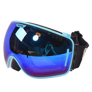 YangXu Ski Goggles - TPU/PC, Double Anti-Fog, switchable Lens, Day and Night, Large Spherical, Unisex ski and Mountaineering Equipment Goggles Windshield - 2 Colors Optional Ski Goggles