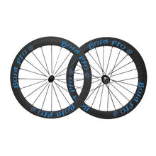 Load image into Gallery viewer, Bola Pro carbon bike wheelset,240℃ High TG ceramic braking surface,+/-0.2mm offset,Two Year Warranty,700C 50mm high 25mm wide tubeless carbon rim with enduro ceramic bearing hub and Sapim Cx ray spoke